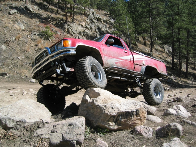 Carnage Canyon - Showing off that solid axle under Zach's 86 Toy